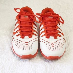 Nike Free iD trainer shoe orange and white